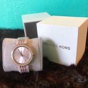 Michael Kors White Pearl/Gold w/Diamonds- Women's